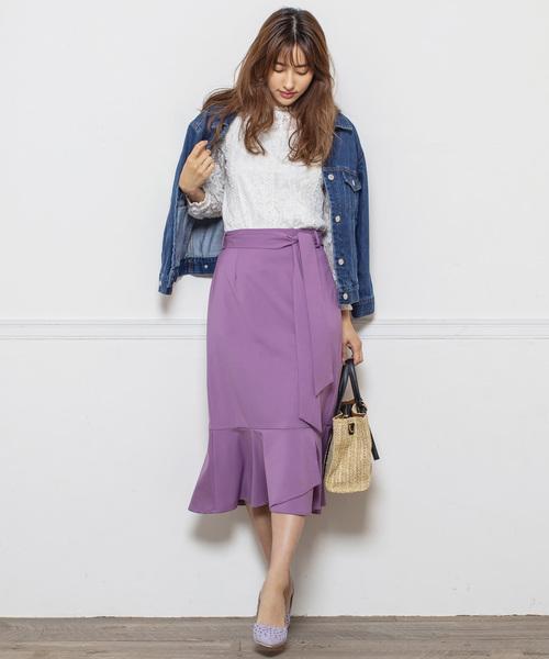 [MEW'S REFINED CLOTHES] 裾フレアゆるマーメイドスカート