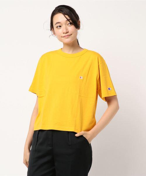 Champion刺繍Tシャツ