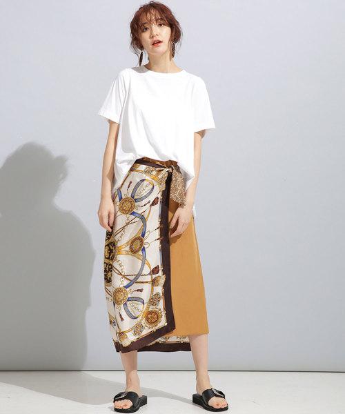 [nano・universe] MUVEIL WORK/MUVEIL WORK×AntiSoaked裾レースTシャツ