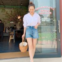 デニムショートパンツコーデ【2019最新版】大人女子が着こなす夏スタイル☆