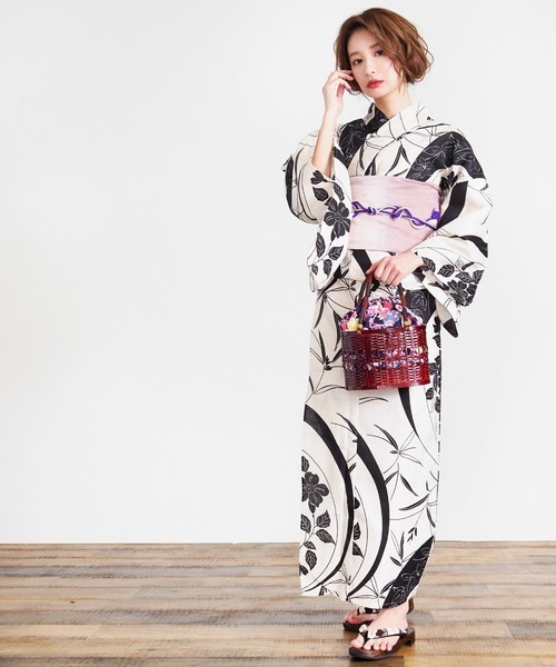 [titivate] 古典柄 綿麻浴衣