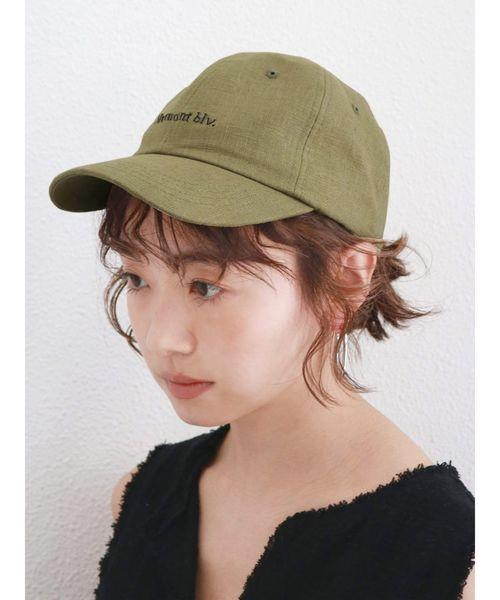 19[Ungrid] リネン混CAP