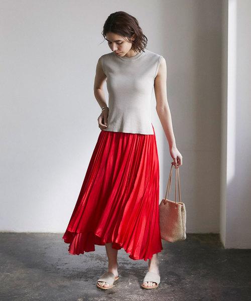 [GALLARDAGALANTE] サイドプリーツスカート