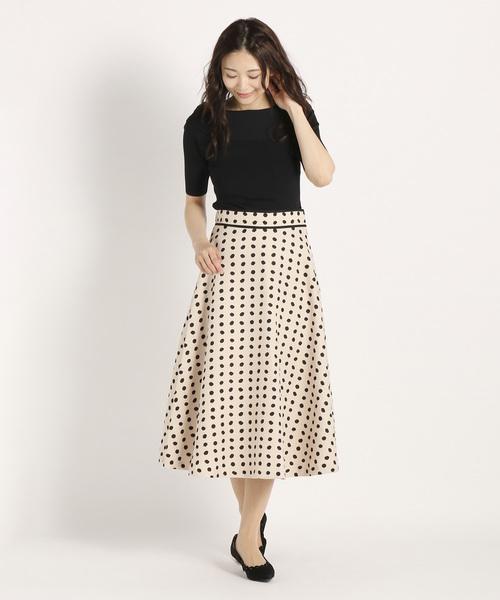 [STRAWBERRY-FIELDS] パイユドット スカート