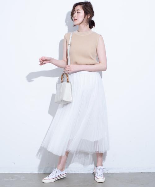 [YARD PLUS] AUNT MARIE'S チュールプリーツロングスカート