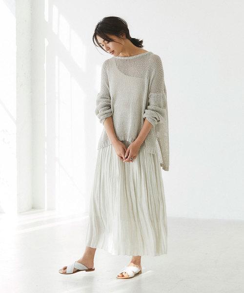 [GALLARDAGALANTE] シャイニープリーツスカート