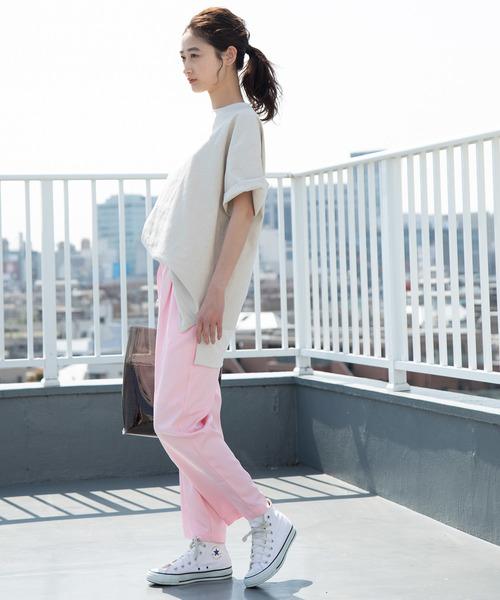 [ViS] 【WEB限定】カラークロップドパンツ