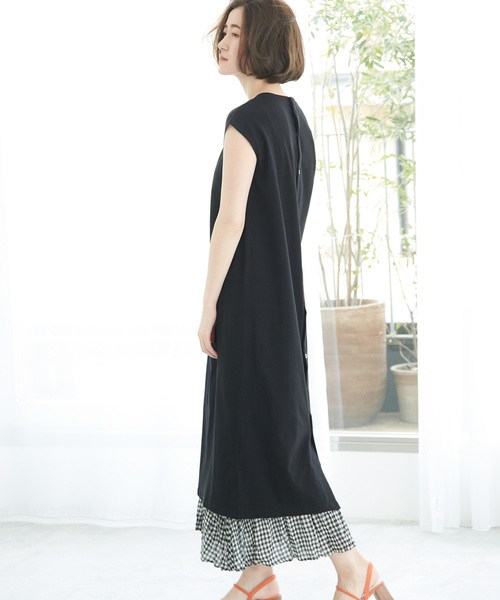 [ROPE' PICNIC] 【WEB限定】バックスナップTシャツワンピース