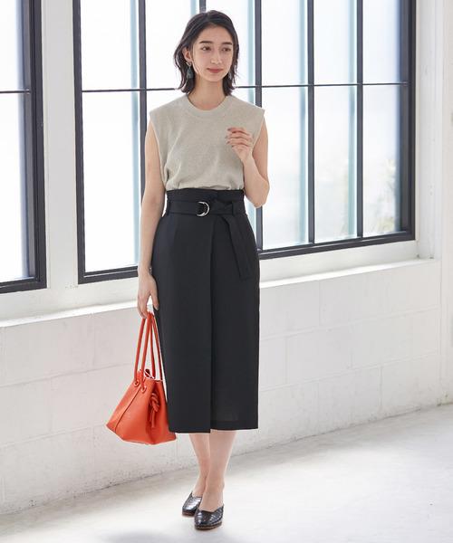 2[ADAM ET ROPE'] オックスセミタイトスカート