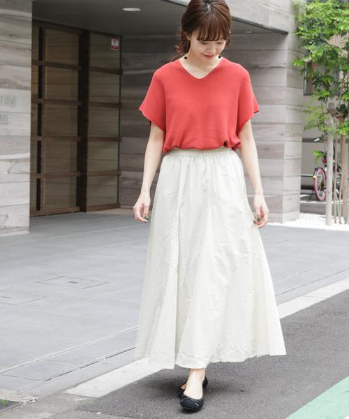 コットンボイルギャザースカート