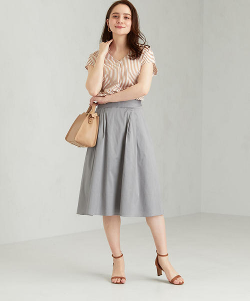 [green label relaxing] [手洗い可能/コットンバイオ] ◆ フレア スカート