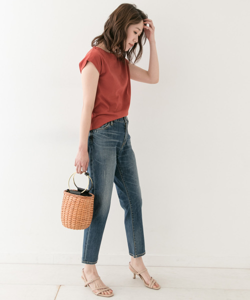 [URBAN RESEARCH ROSSO WOMEN] F by ROSSO フレンチスリーブTシャツ