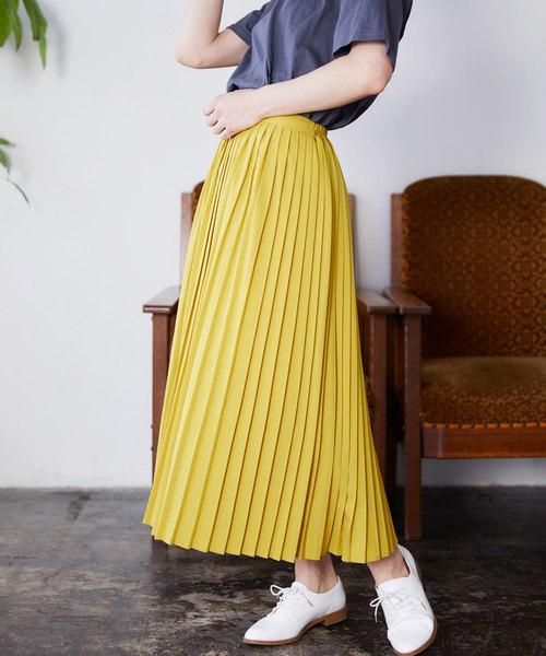 [Chaco closet] プリーツロングスカート
