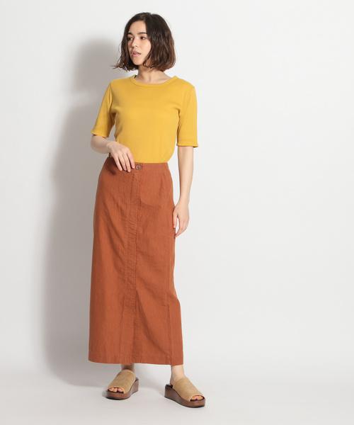 [niko and...] ストレートラップスカート