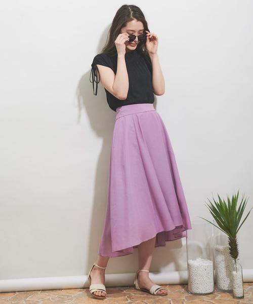 [Noela] カラーテールスカート