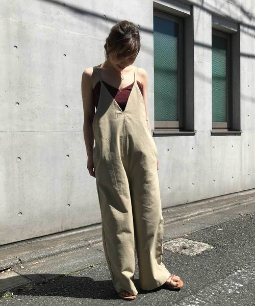 [me Jane] コットンリネン/オーバーオール