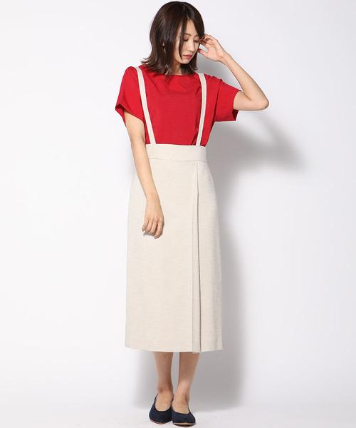 [ketty online store] デラリネーラストレッチサスペンダー付きスカート