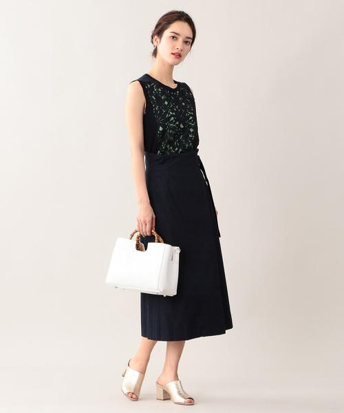 [EPOCA THE SHOP] 【E_EPOCA THE SHOP】カラーレースラップスカート