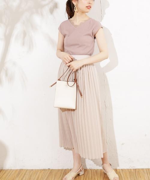 [natural couture] 衿ぐりレーステレコフレンチプルオーバー