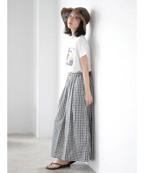 [CRAFT STANDARD BOUTIQUE] ふんわりギャザーロングスカート ★○