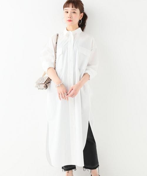 [JOURNAL STANDARD] 【NEU】モノトーンシャツワンピース