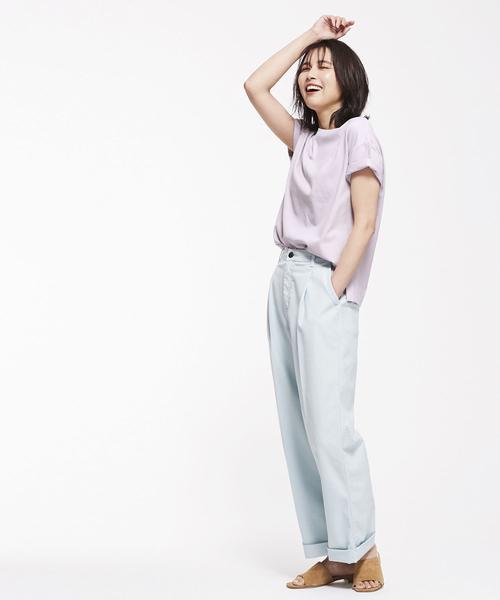 [nano・universe] Anti Soaked クルーネックTシャツ