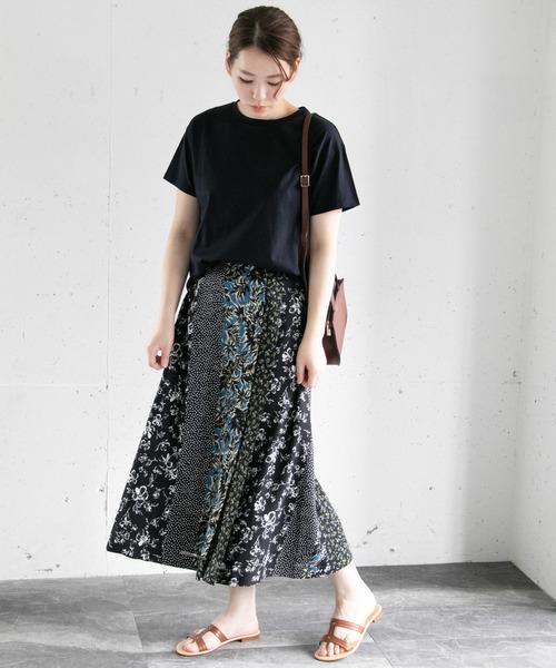 [URBAN RESEARCH ROSSO WOMEN] ボタニカルクレイジーパターンスカート