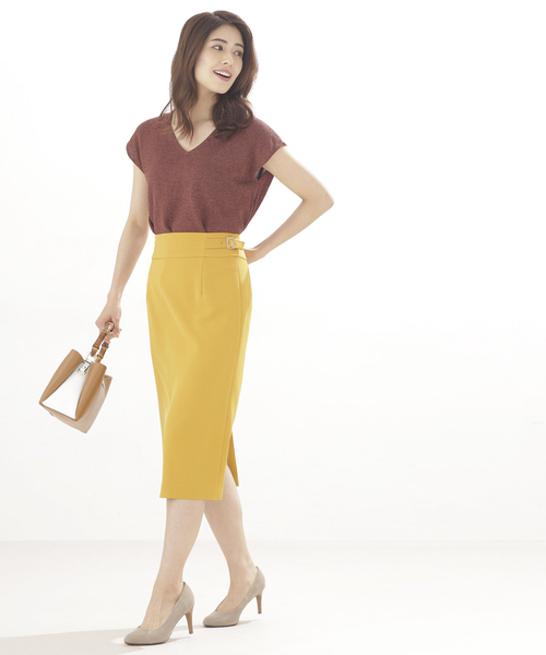 Aperi/サイドベルトタイトスカート