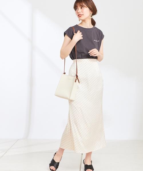 [natural couture] サテンマーメイドスカート