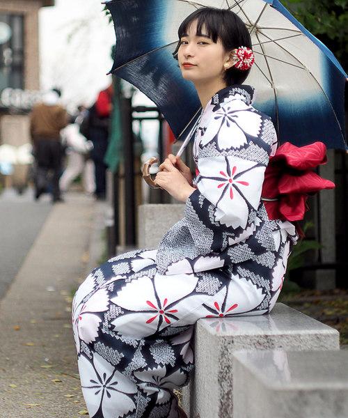[Tokyo135°] 浴衣3点セット 浴衣+半巾帯+下駄