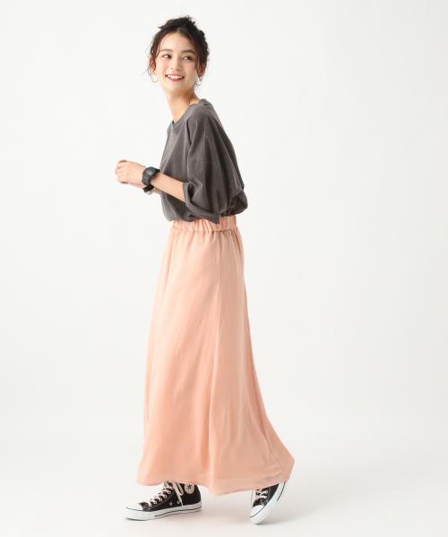 [RAGEBLUE] 【LADIES】ヴィンテージサテンドレープスカート/839144