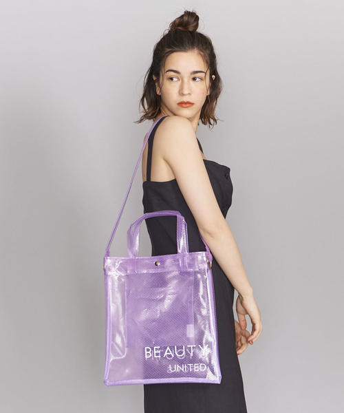 [BEAUTY&YOUTH UNITED ARROWS] BY PVCメッシュロゴトートバッグ -2WAY-