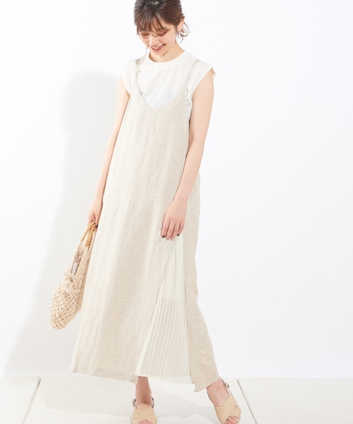 46[natural couture] シャリ感お上品リブタンク