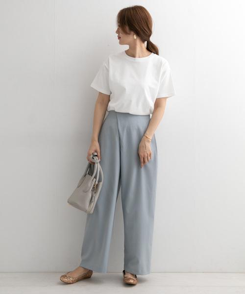 [URBAN RESEARCH DOORS] スペインコットンクルーネックTシャツ