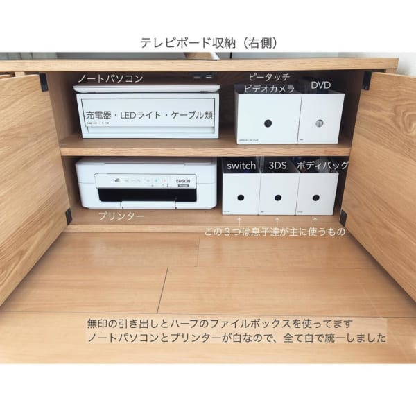 テレビボード・リビングクローゼットの収納アイデア