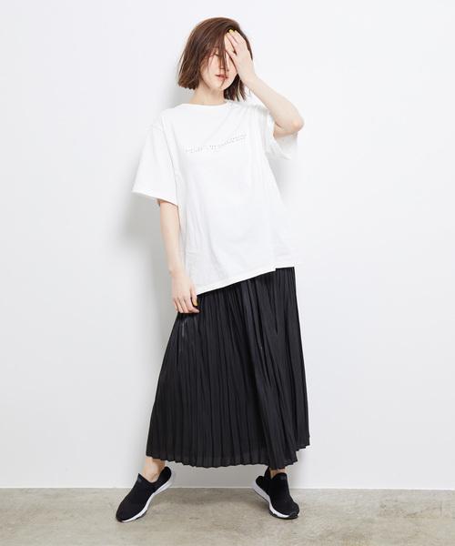 [ROPE' PICNIC] シャイニーヴィンテージプリーツスカート