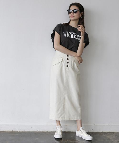 [BABYLONE] メンアサフラップタイトスカート