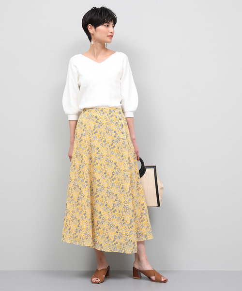 [ROPE'] カットペイズリープリントスカート