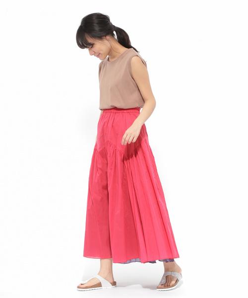 [LAKOLE] 【マルチウェイ】リバーシブルコットンボイルスカート / LAKOLE