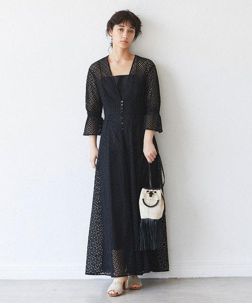 [GALLARDAGALANTE] 刺繍レースドレス