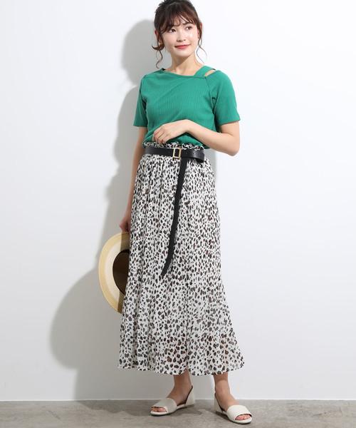 [ViS] マーメイドプリーツマキシスカート