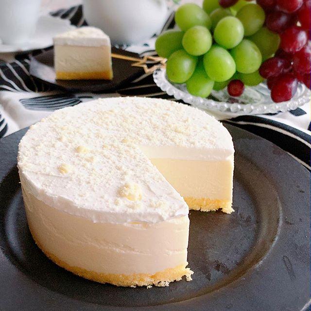 ひんやりレアチーズケーキ