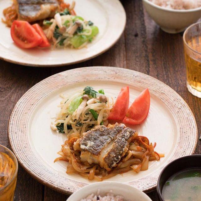 カリッと白身魚の野菜添え