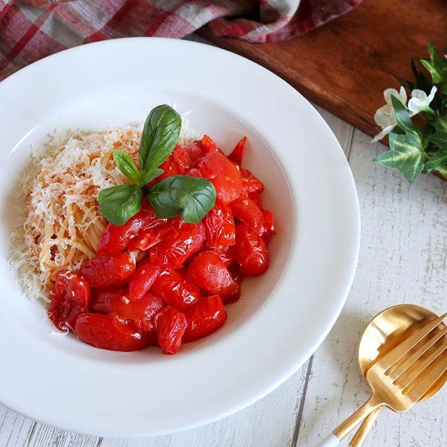野菜 トマトソース パスタ9