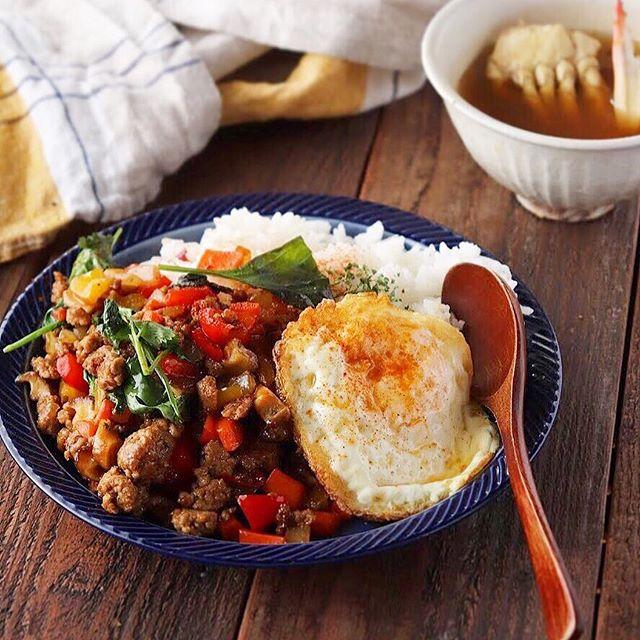 おかずとご飯を一緒に食べられる話題のレシピ②ガパオライス