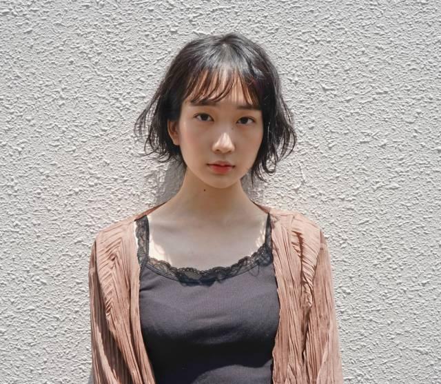 黒髪ショートボブ(前髪あり)6