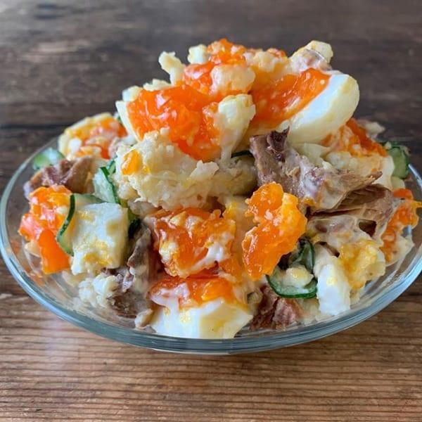 鯖味噌煮缶で作るポテトサラダ