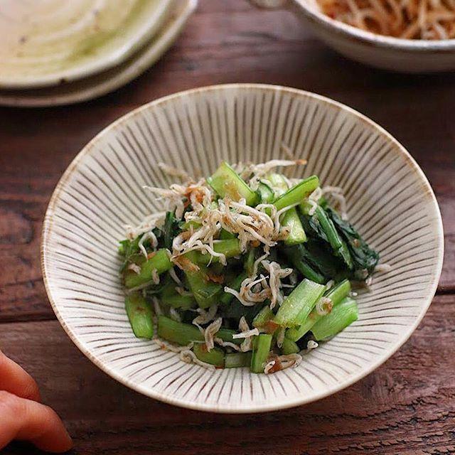 【レシピ付き】小松菜のかつおじゃこ和え