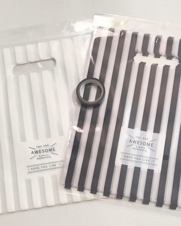 ラッピング袋とマスキングテープ
