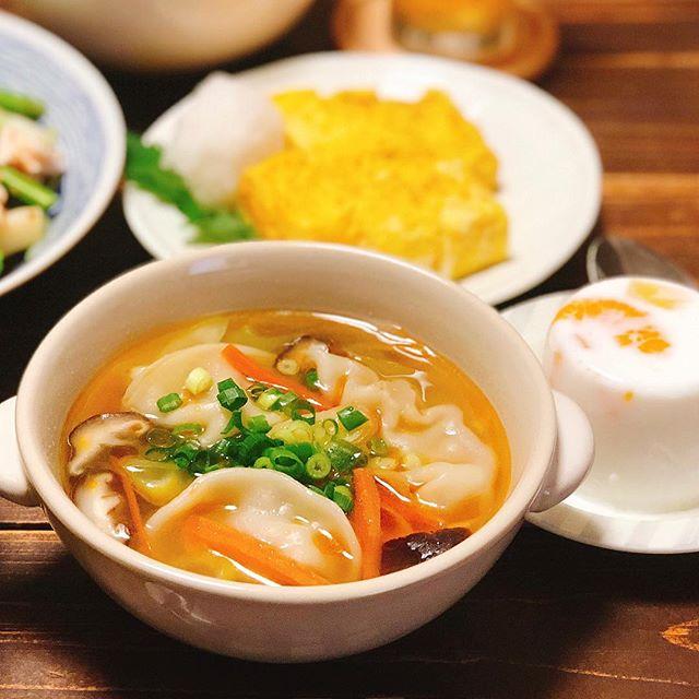 コロッケ 献立 スープ 汁物2